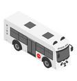 panda school bus icon isometric style vector image
