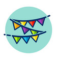 party bunting color icon vector image