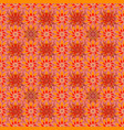 pink orange and red hand drawn pattern art vector image