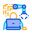 programming robot icon outline vector image vector image