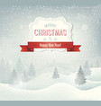 retro holiday christmas background with winter vector image