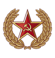 Soviet star and laurel wreath vector image