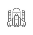 space shuttle rockets airplane line icon vector image