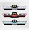Sport Scoreboard Time vector image vector image