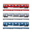 subway train isolated set vector image