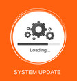 system update vector image vector image