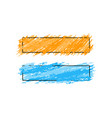 two stylish framesbanners with colors brush vector image vector image