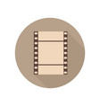vintage retro filmstrip icon film movie photo vector image
