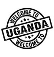 welcome to uganda black stamp vector image vector image