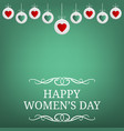 womens day party invitations and greeting cards vector image