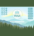 yoga studio website landing page template with vector image