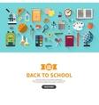 Back to school flat design banner vector image
