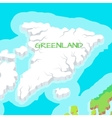 Isometric Map of Greenland Detailed vector image