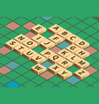 isometric word puzzling game vector image