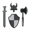 viking armor set vector image