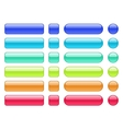 Set of colored web background buttons vector image