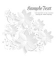 3D Paper Floral Elements vector image vector image