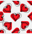 abstract texture with hatching love signs lovely vector image vector image