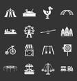 amusement park icons set grey vector image vector image