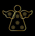 angel icon symbol design of gold angel silhouette vector image