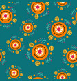 beautiful seamless pattern with stilyzed sun in vector image vector image
