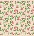 beautiful wild flowers textile pattern design vector image vector image