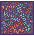 Benefits of Virtual Assistance text background vector image vector image