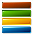 blank shiny buttons vector image vector image
