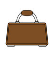 brown briefcase design vector image