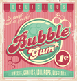 Bubble gum vector image