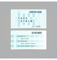 Business card template made in subtle teal circled vector image
