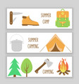 camping banner vector image vector image