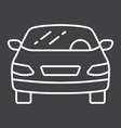 car line icon transport and automobile sedan vector image vector image