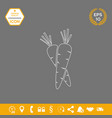carrots symbol line icon graphic elements for vector image