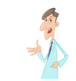 cartoon doctor talking vector image