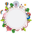 children playing at playgroung banner vector image
