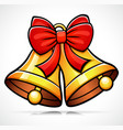 christmas bell cartoon vector image