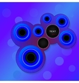 circles for text vector image vector image