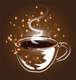 Coffee cup and coffee elements vector image vector image