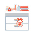 commode with swaddle equipment vector image vector image