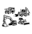 construction equipment collection vector image