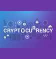 cryptocurrency word trendy composition banner vector image vector image