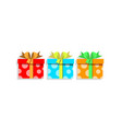 cute cartoon set of colorful gift boxes wrapped vector image vector image