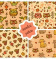 cute valentines seamless patterns vector image