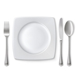 Empty plate vector image