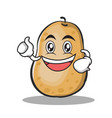 enthusiastic potato character cartoon style vector image vector image