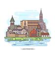 famous historical landmarks liechtenstein vector image vector image