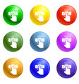 finger touch icons set vector image vector image