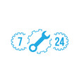 fix support customer service 24 hours 7 days vector image vector image