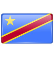 Flags Congo Democratic Republic in the form of a vector image